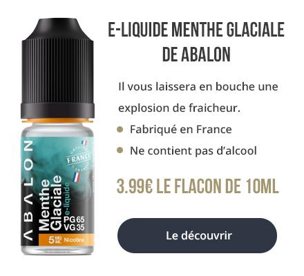 Découvrez le e-liquide Menthe Glaciale d'Abalon